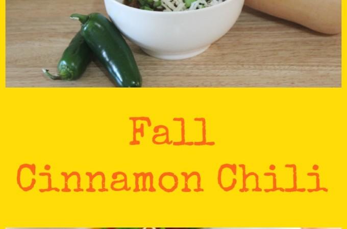 Fall Cinnamon Chili