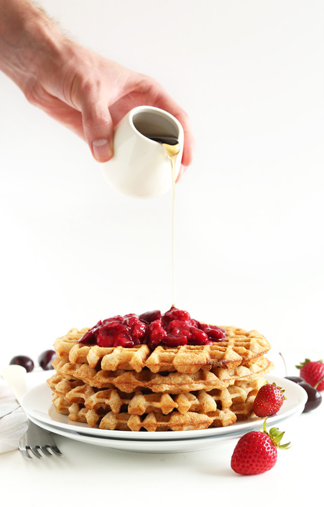 7-Ingredient-Vegan-Gluten-Free-Waffles-Crispy-healthy-freezer-friendly-and-just-ONE-BOWL-required-vegan-glutenfree